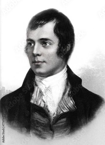 Fotomural Robert Burns, Scottish poet and lyricist