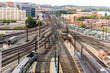 Washington, DC -Trains and overhead cables at Union Station