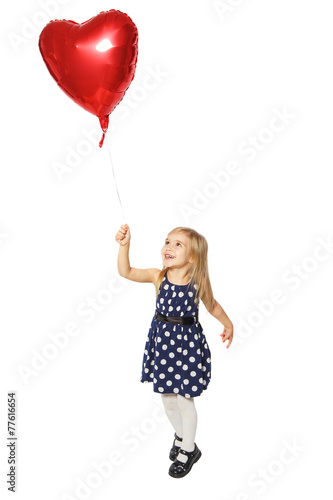 Photo  Balloon heart in a small hand