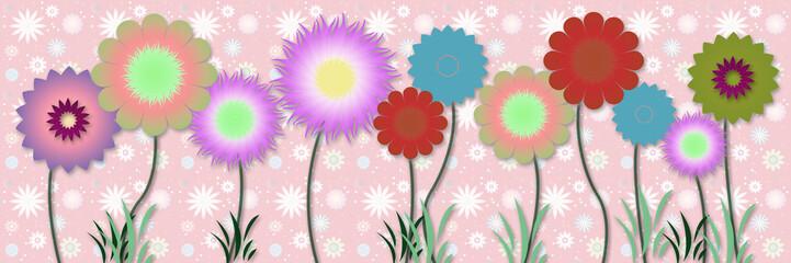 FototapetaBeautiful floral spring design