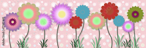 Beautiful floral spring design - 77617468