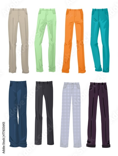 Men's office and casual pants