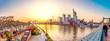 Frankfurt Main Skyline Sonnenuntergang