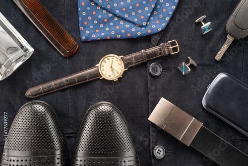 Men accessories Canvas Print