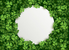 Clover Leaves Background With ...