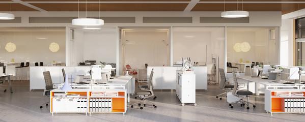 panorama ansicht in Büro - panorama view inside loft office
