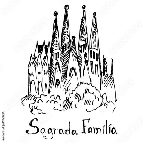 World famous landmark. Barcelona, Spain. Canvas Print