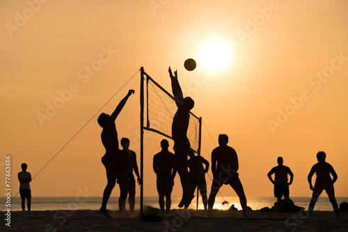 beach Volleyball Wallpaper Mural