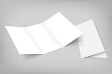 Blank Vector Tri Fold Mockup O...