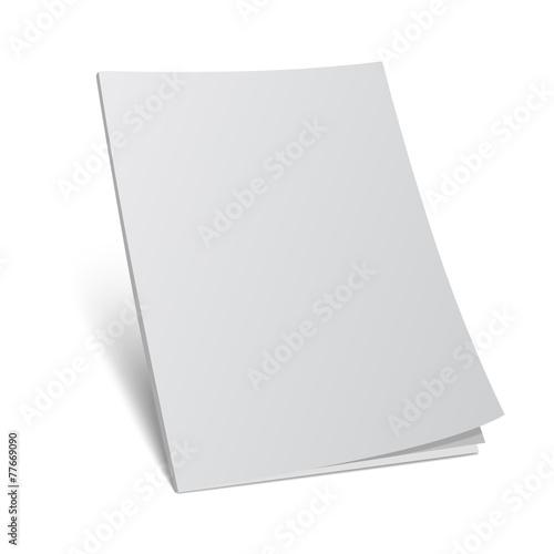 Photographie  Couverture blanche 3d maquette maquette