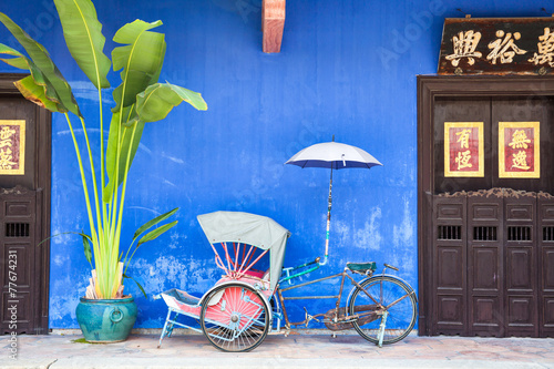 Fototapeta  Old rickshaw tricycle near Fatt Tze Mansion, Penang