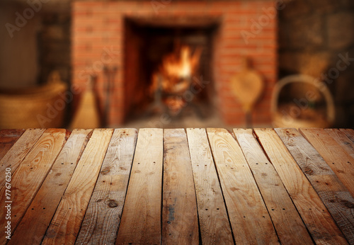 Fototapeta  table with fireplace