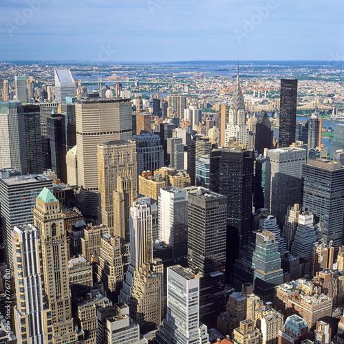 Foto op Aluminium New York Aerial view of NYC.
