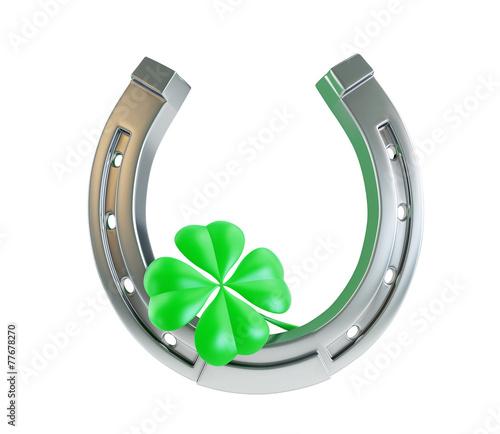 Stampa su Tela St. Patrick's day silver horseshoe