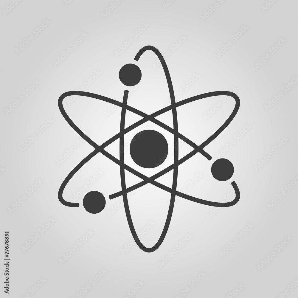Fototapeta The atom icon. Atom symbol. Flat