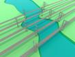 Leinwanddruck Bild - Suspension Bridges