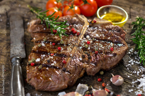 Fotografie, Tablou  T-Bone Steak