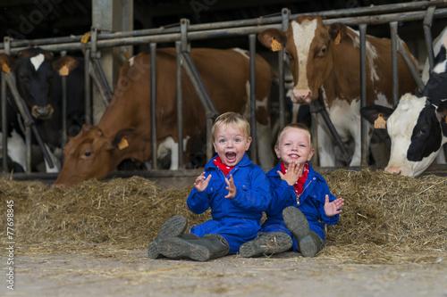 Valokuva  kinderen op de boerderij