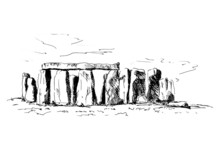 Hand Sketch Stonehenge