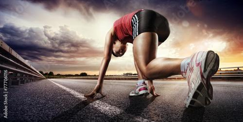fototapeta na ścianę Sport. Runner.