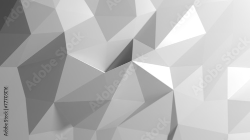 Valokuva  Abstract white low poly background