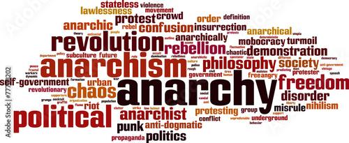 Valokuva  Anarchy word cloud concept. Vector illustration