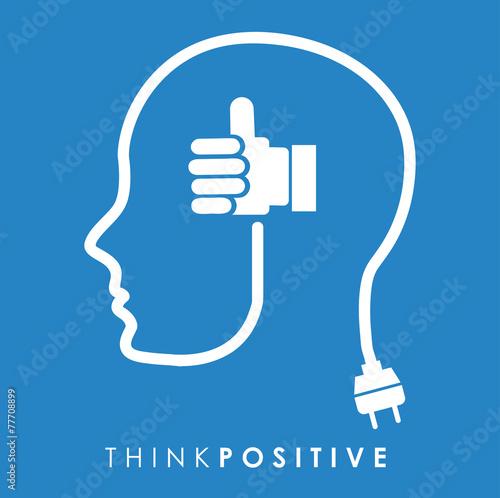 Fotografía  think positive