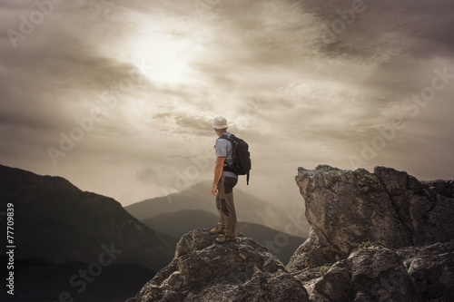 The Man on the High Mountain Canvas Print
