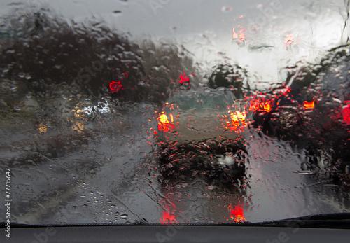 Fotografie, Obraz  Driving in rain