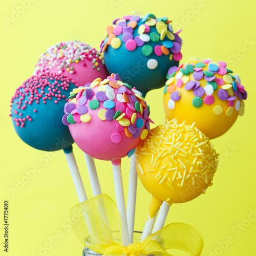 Keuken foto achterwand Snoepjes Colorful cake pops