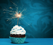 Birthday Sparkler Cupcake