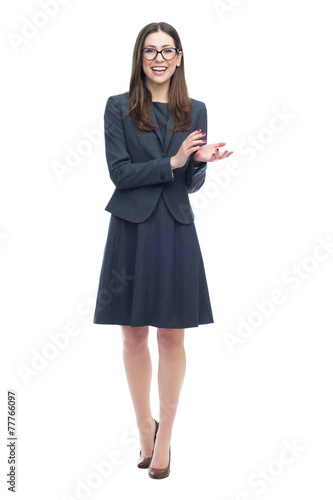 Businesswoman clapping in applause Wallpaper Mural