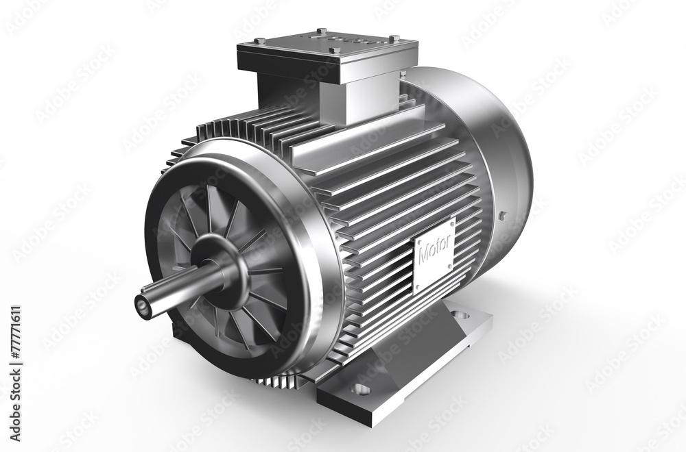 Fototapeta Industrial electric motor