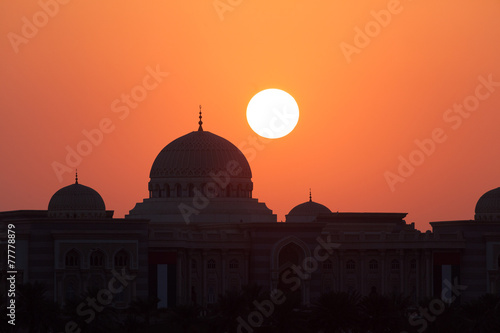 Valokuva  Sunset in Sharjah, United Arab Emirates