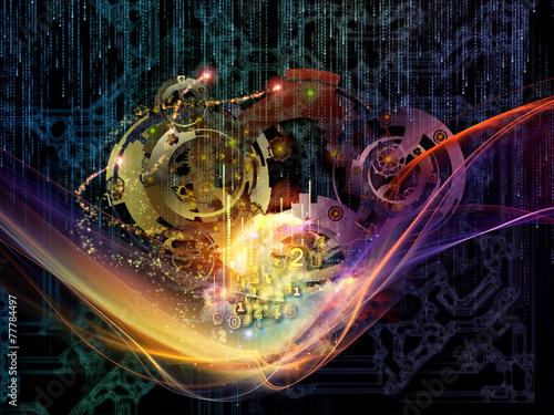 Fototapeta Virtualization of Gears obraz na płótnie