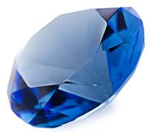 Sapphire Gemstone Isolated On ...
