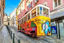 Gloria Funicular, Lisbon, Port...