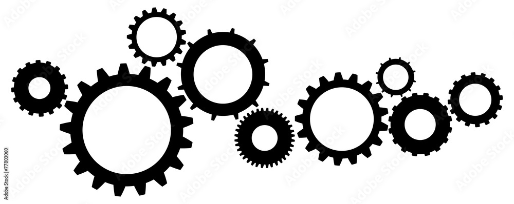 Fototapeta Cogs And Gears Icon Vector Illustration