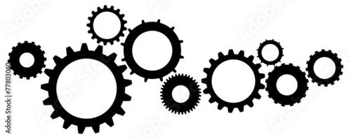 Fotografía Cogs And Gears Icon Vector Illustration