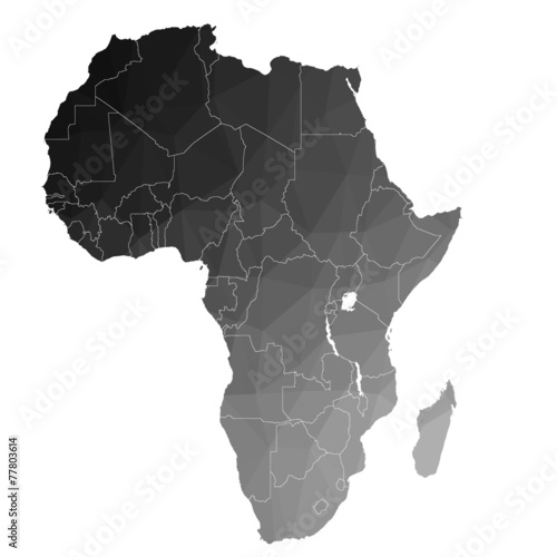 Fotomural  Africa in the color triangle. Raster 1