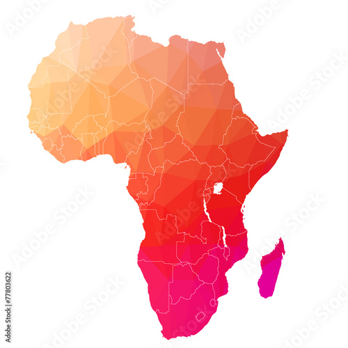 Fotografía  Africa in the color triangle. Raster 5