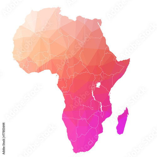 Fotomural  Africa in the color triangle. Raster 2