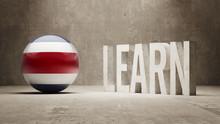 Costa Rica. Learn Concept.
