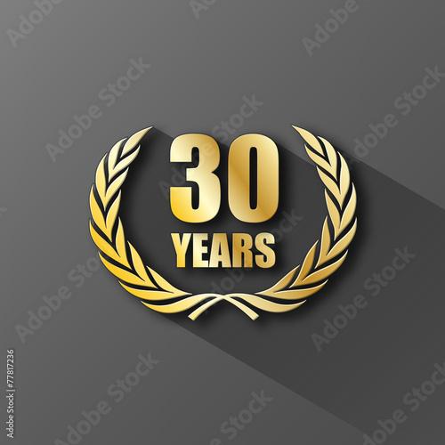 Fotografia  30 YEAR ANNIVERSARY Icon (twenty years wreath prize birthday)