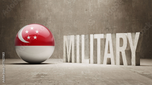 Singapore Military Concept. Canvas Print