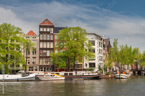 Aluminium Prints Amsterdam Amstel riverbank, Amsterdam