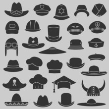 Vector Set Hat And Cap Illustr...