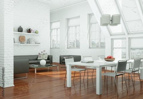 modernes Loft Interieur Design – kaufen Sie diese Illustration und ...