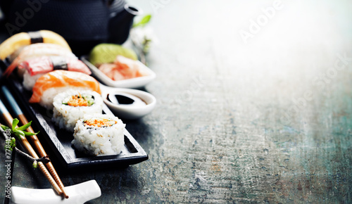 Closeup of fresh sushi