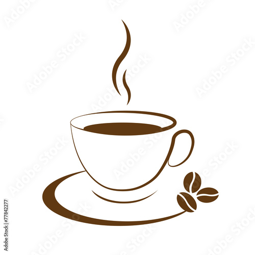 Photo  hot coffee cup icon